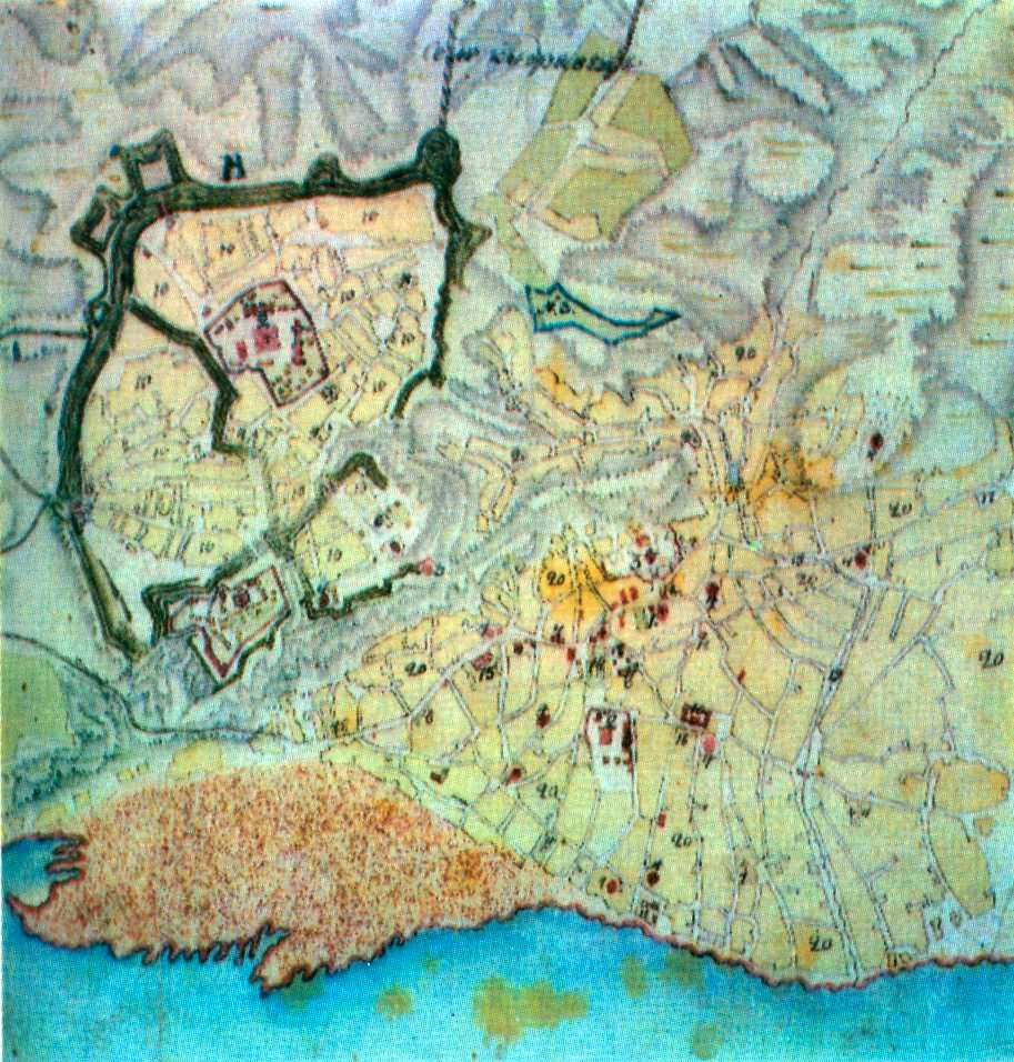 Фрагмент плану Києва 1799 р.